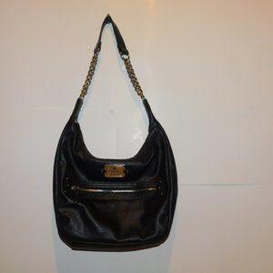 Nicole Miller Handbag Purse Black Chain Strap